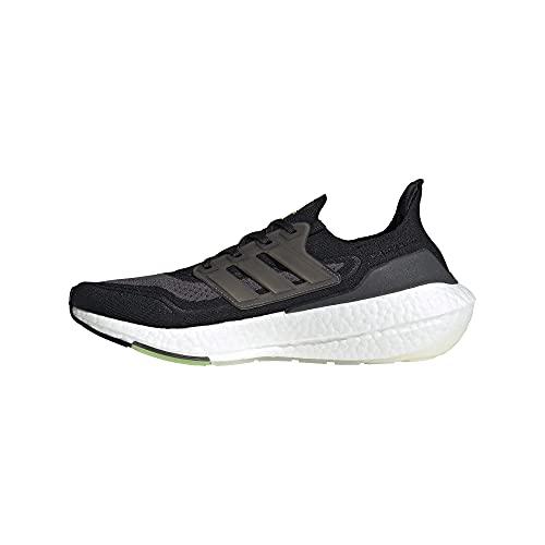 adidas Running Shoe, Zapatillas para Correr Hombre, Negro Plata Metálico Solar Amarillo, 46 EU