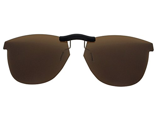 Custom Fit Polarized CLIP-ON Sunglasses For Oakley Grounded OX8070 53X17 Brown