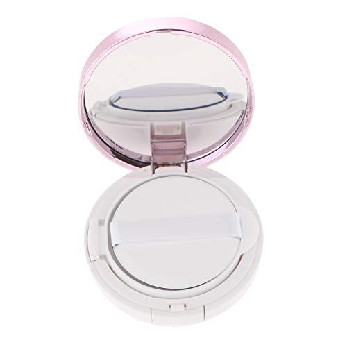 Sharplace Vide air Portable Coussin Boîte Poudre Puff Poudre Fond de teint BB Support Boîte de Maquillage Etui avec Houppette Eponge Coussin d'Air et miroir - Violet