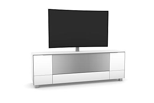 lisel-de Maja Möbel Soundboard 7773 in Weißglas inkl. TV-Halterung schwenkbar TV-Board Lowboard 180x140x42cm