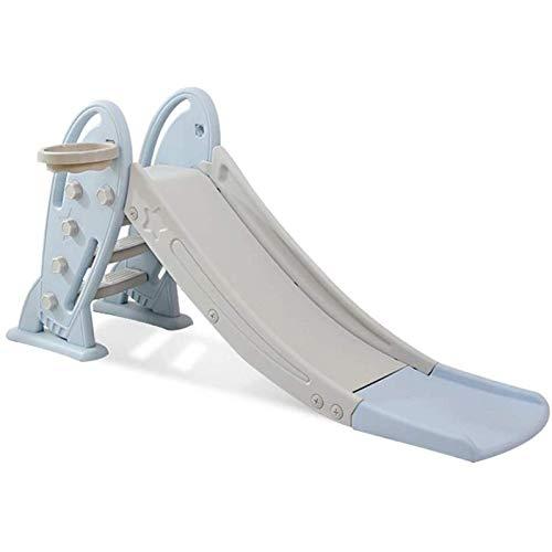 Adesign Diapositivas de los niños del niño de los niños juegan Juegos de Juguete al Aire Libre Indoor Climbing Ride (Color: Azul, tamaño: 175 * 48 * 80 cm)