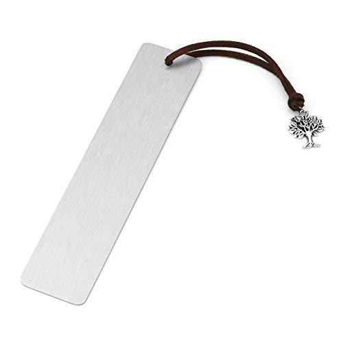 Jovivi Segnalibro in Acciaio Inxo Duro Personalizzabile con Fiocco Albero della Vita Croce Bookmark Segnalibri Cinesi