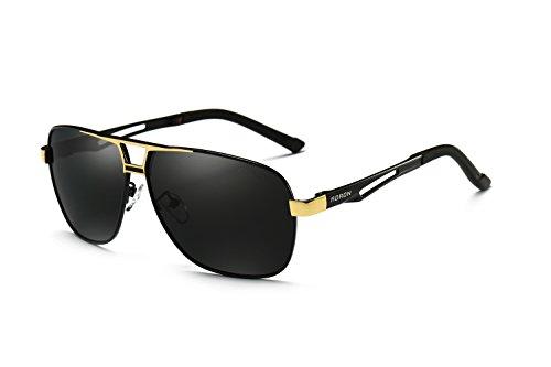 AORON Polarisierte Herren Sonnenbrille Polarisierte Outdoor Sportbrille 100{d9014a3aa8c67a4ab7597e1f89908c55d93b5bc3c542eb744fb4a5c6b5466352} UV400 Schutz Fahren Sonnenbrille (Gold)