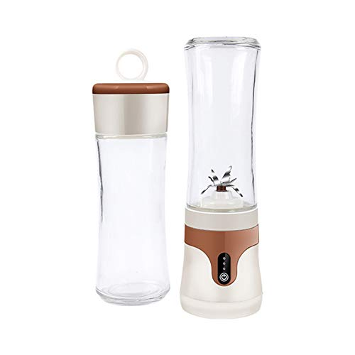 Portable Electric Juicer Cup, Household Electric Small Cooking Machine, Can Make Juice Milkshake Food, Best Gift for Mothers Day,Brown