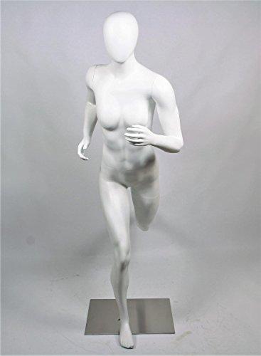 Qubeat Mannequin Feminin Mat Blanc