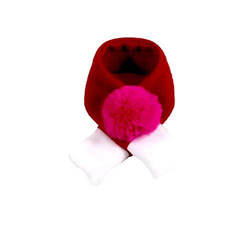 Nikgic. Weihnachten Haustier Schal Fellknäuel Schal Hundeschal Katzenschal Roter Schal Haustier-Kleidung Mittlere Größe 46 * 5 cm