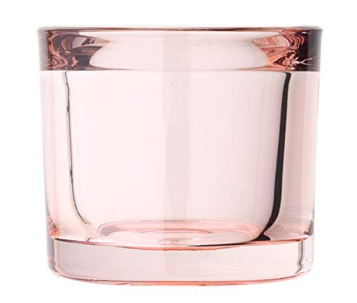 Blomus - MIMO - Windlicht/Teelichthalter/Kerzenhalter - Whitheres Rose/Rosa - Glas - (DxH): 6 x 6,5 cm
