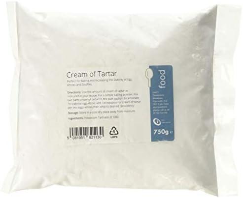Intralabs Cream of Tartar for Baking & Playdough, Highest Quality Pure Food Grade Powder, 50 g