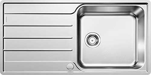 BLANCO LEMIS XL 6 S-IF – Edelstahlspüle für die Küche für 60 cm breite Unterschränke – Mit IF-Flachrand und extra großem Becken – 523035