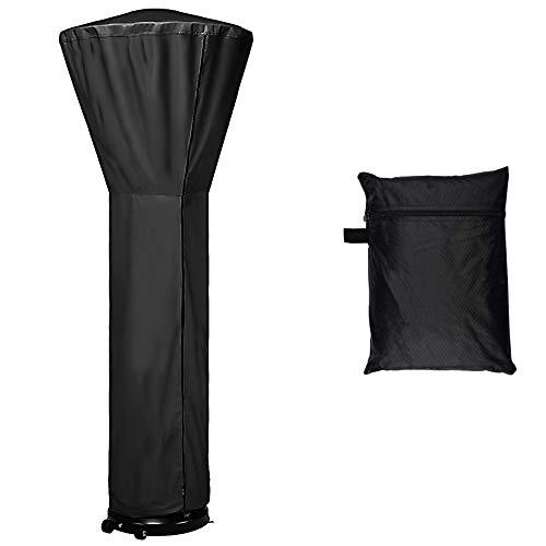 LDPF - Funda impermeable para calefactor de patio, con cierre, color negro, 24 meses de uso