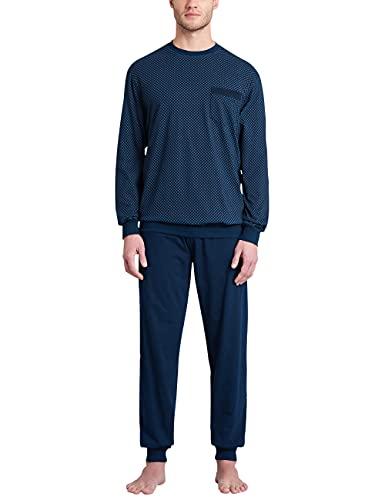 Schiesser Herren Schlafanzug lang Pyjamaset, royal, 52