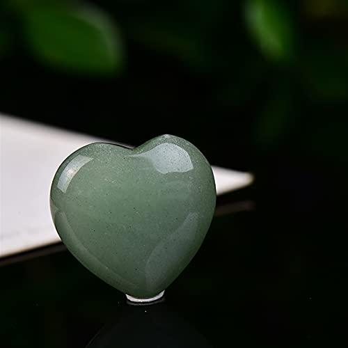 WANGJBH Piedras 100% Moda Natural Cristal Corazón En Forma de Piedras Hecho A Mano Pulido Amor Corazón En Forma de Piedra Amor Souvenir Sano Gemstone Gemas (Color : Aventurine, Size : 1pcs)