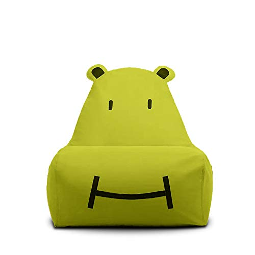 H-ei Lazy Sofa Children's Small Sofa Tatami Bean Bag Cute Single Fabric Chair Cartoon Three-dimensional Shape Chair Removable Washable 75×60×65cm (Color : Green)