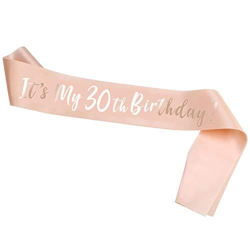 HOWAF Oro Rosa Compleanno Fascia It's My 30th Birthday Fusciacca Gadget per Decorazioni Festa di...