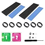 2 Pack Aluminum Heatsink &Mounting Screw Screwdriver Kit,PCIe NVMe M.2 2280 ssd Heatsinks Cooler& Silicone Thermal pad