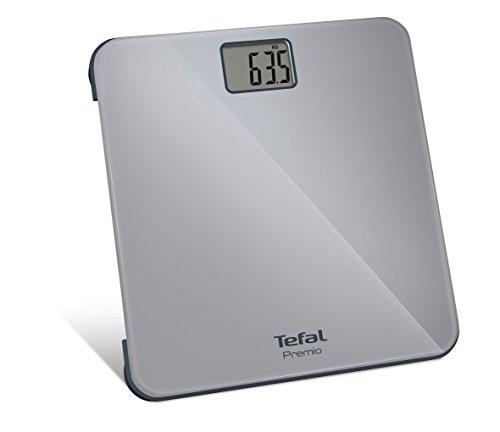 Tefal PP1220 Báscula Personal electrónica Plaza Gris - Báscula de baño (Báscula Personal electrónica, 160 kg, 100 g, kg, LB, ST, Plaza, Gris)