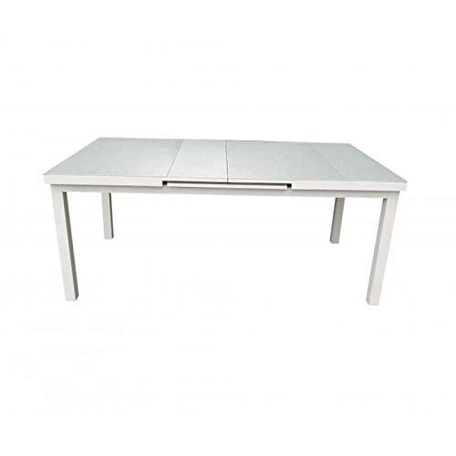 Paris Prix - Table De Jardin Extensible osorno 180-240cm Blanc