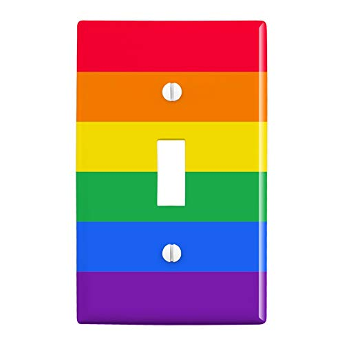 GRAPHICS & MORE Rainbow Pride Gay Lesbian Contemporary Plastic Wall Decor Toggle Light Switch Plate Cover