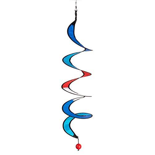 IMC Networks CIM Twister S Maritim Carillon à Vent résistant aux UV et aux intempéries Ø 10 cm, Longueur 75 cm avec Clip de roulement à Billes en Acier Inoxydable – Décoration de Maison et de Jardin