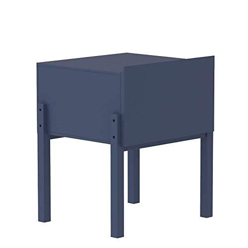 BaiHogi Mesa de cama, Tische quadratische Nachttisch, Schlafzimmertisch, kleines Schrank mit Schubladen, Leichter Lagerregal, weiß, Blauer Couchtisch Farbe: Indigo, Größe: 17.7115.7421.25in