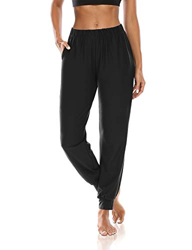 DIBAOLONG Womens Joggers with Pockets Loose Yoga Sweatpants Casual Harem Workout Lounge Pants Black L