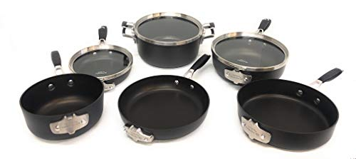Select by Calphalon Space Saving Hard Anodized Nonstick Cookware Set, 9 Piece
