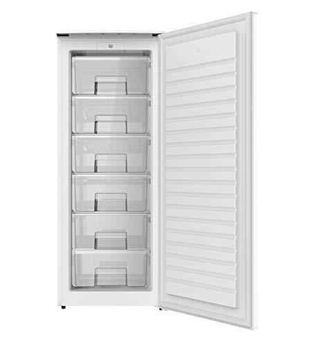 Congelador Vertical PROXY, color blanco, 1,43 m de alto x 55,4 cm de ancho con clasificación energética A+