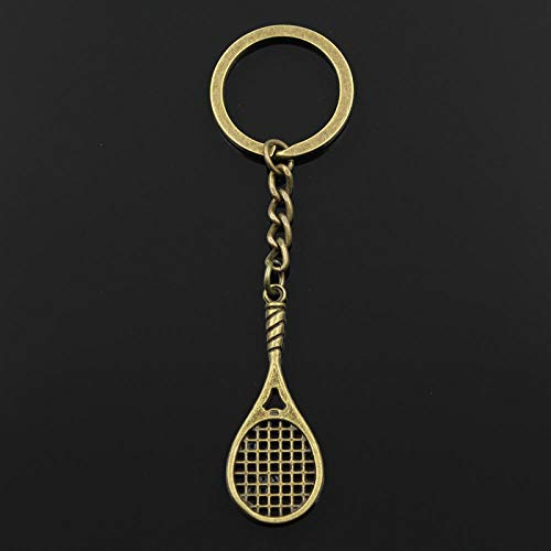 WANM Mode Schlüsselbund 48X19Mm Tennisschläger Anhänger DIY Männer Schmuck Auto Schlüsselanhänger Ringhalter Souvenir Für Geschenk Legierung Anhänger
