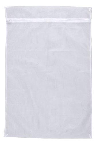 WENKO Wäschenetz, fasst 5 kg Kleidung, Waschbeutel mit Reißverschluss für die Waschmaschine, schont Feinwäsche, Socken & Co. bei jedem Waschgang, kochfest, aus hochwertigem Polyester, 60 x 90 cm, Weiß