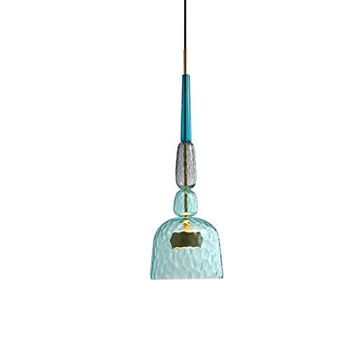 W.Z.H.H.H Lámpara Colgante Habitación Luces Colgantes Moderna Sala de Estar del Sitio de niños de Vidrio- Cabeza lámparas Colgantes Decoración Accesorios Candelabro (Body Color : A, Size : Gratis)
