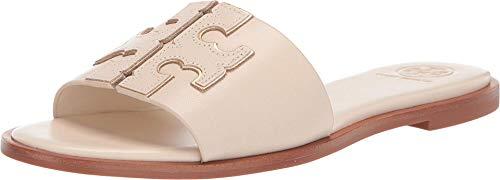 Tory Burch Women's New Cream INES Leather Slides (9.5 M US)