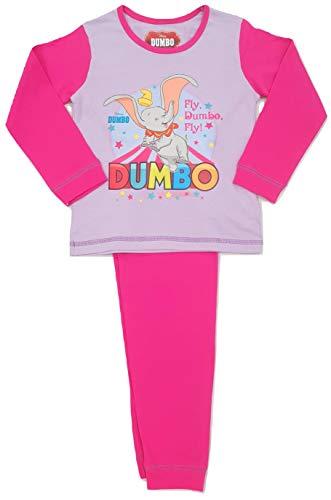 Girls Disney Dumbo The Elephant Pyjamas Nightwear (Dumbo - Fly, 2-3 Years)