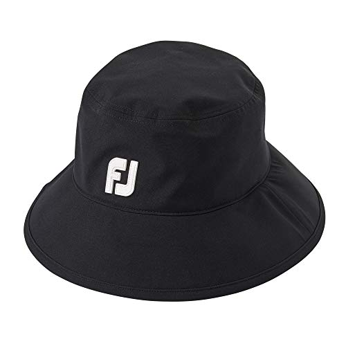 FootJoy DryJoys Tour Black Rain Bucket Hat