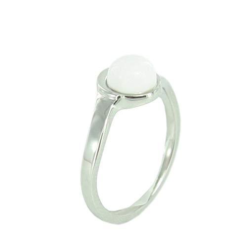 Skagen Designs UK JRSW022S7 - Anillo de mujer de acero inoxidable con perlas