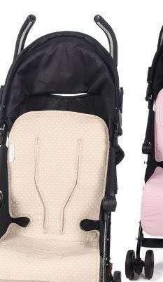 Pasito a Pasito - Colchoneta para silla de paseo de verano universal Atelier en topito beige Funda ideal para cubrir la silla de paseo y que tu bebe esté fresquito durante los meses de verano