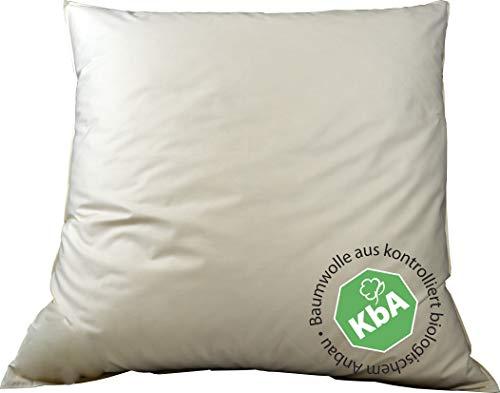 Vita Schlaf Bio Luxe KBA Daune Kissen Organic GÄNSE Deutsche Qualitat alle Größen GOTS 30% Daune (80x80cm MITTELFEST)