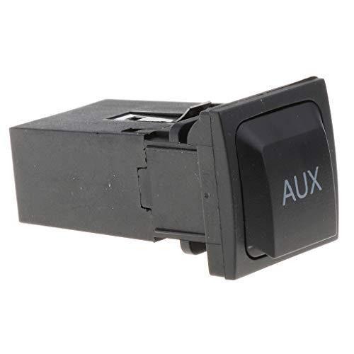 Shiwaki Botón del Interruptor AUX del Reproductor de CD del Coche para El Asiento Auxiliar de Volkswagen Magotan