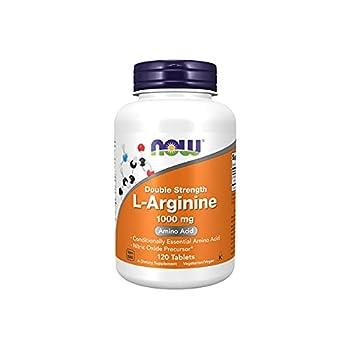 NOW Supplements L-Arginine 1,000 mg Nitric Oxide Precursor Amino Acid 120 Tablets