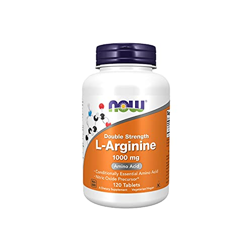 NOW 1000Mg Doble Fuerza L-Arginina 120 Tabletas 240 g