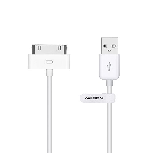 Aibocn MFi Certified 30 Pin Sync and Charge Dock Cable for iPhone 4 4S / iPad 1 2 3 / iPod Nano/iPod Touch - White