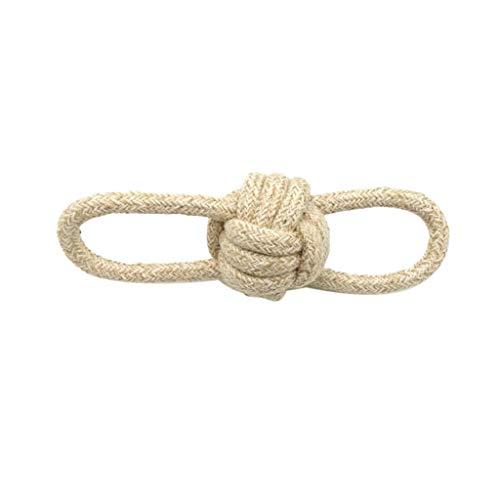 Yowablo Haustier Hund kaut Baumwolle Seil Knoten Ball Zähneknirschen Odontoprisis Spielzeug (22cm,Beige)
