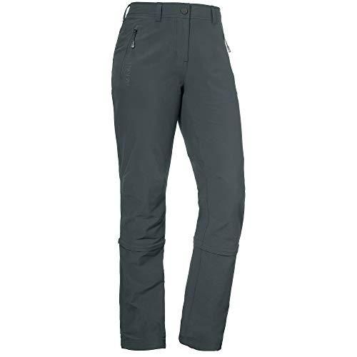 Schöffel Damen Pants Engadin Zip Off Zipp, grau (charcoal), 42