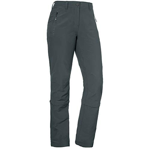 Schöffel Damen Pants Engadin Zip Off Hose, grau (charcoal), 76