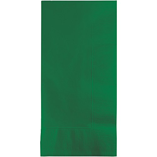 Creative Converting Touch of Color 100 Count 2-Ply Paper Dinner Napkins, Emerald Green