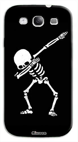 Mixroom - Cover Custodia Case in TPU Silicone Morbida Sfondo Trasparente per Samsung Galaxy S3 Neo i9301 i9300 Fantasia Scheletro Dance U834