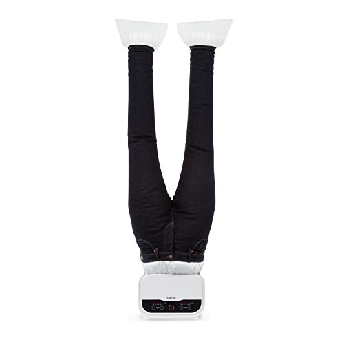 KLARSTEIN ShirtButler Pro, Secadora y planchadora automática de pantalones: Sistema 2 en 1, 1200 W, Tecnología Easy-Dry, Tamaño múltiple: S - XL, Sistema de seguridad térmica, Material: Nylon Oxford, Blanco