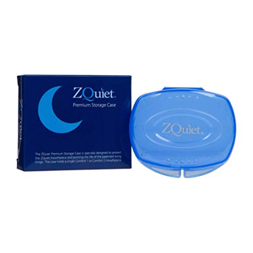 ZQUIET Premium Storage Case for ZQuiet Anti-Snoring Mouthpiece (Device NOT Included) – Durable, Protective, Hygienic, Ventilated, and Convenient for Everyday Storage and Travel