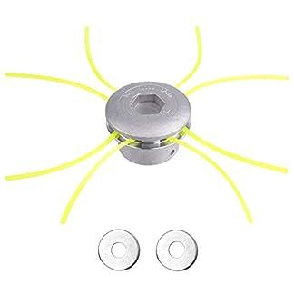 FEPITO Cabezal Desbrozadora de Aluminio Universal con Repuestos(M8, M10)