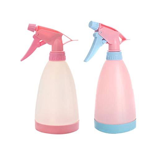 Bouteilles de pulvérisateur en plastique pression à main réglable Bouteilles en plastique for les cheveux pulvérisation, nettoyage, eau Le nettoyage Fleurs pour le nettoyage ( Color : Beige+pink )
