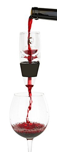 "Real""GLASS"" Wine Aerator - Decanter Pourer To Enhance Flavor & Aroma In Wine - Recommended By The Wine Cave"